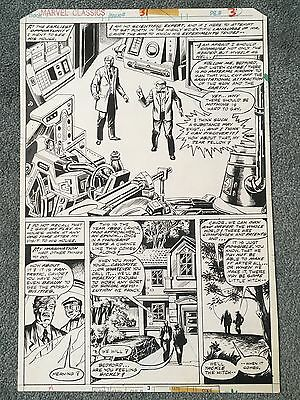 Original 1970s MARVEL CLASSICS Comic Art Page FIRST MEN IN THE MOON HG Wells 1