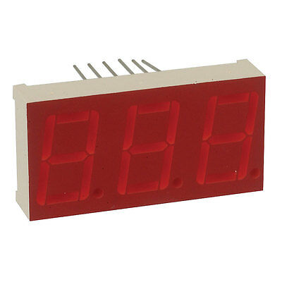 Displays Segmented Panel 3DIGIT 24LED Orange CC 12-Pin DIP 4 pcs