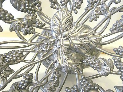 Vintage White  Metal Centrepiece/Fruit bowl with Vines and Grapes