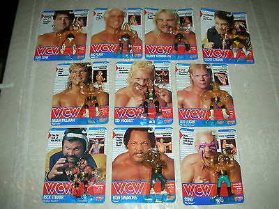 Lotto 10 Action Figures Wcw Galoob 1990 Nuove!