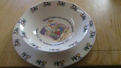 NODDY COLLECTION Royal Stafford Fine Bone China bowl and plate