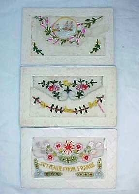 Three First World War Embroidered Silks