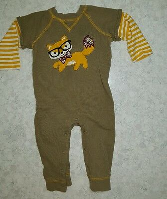 18 month one piece outfit, boys smart fox