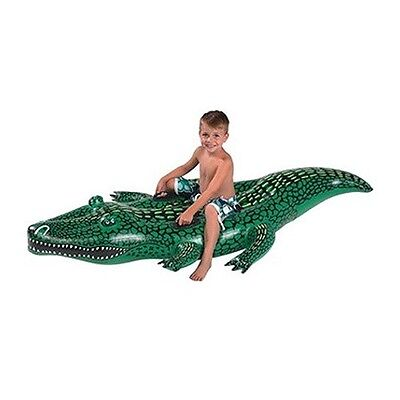 Inflatable Alligator Float Kids Swimming Pool Toy Party Tube Raft Lounge River