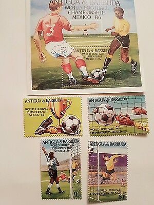 ANTIGUA AND BARBUDA Stamps Commerating  Mexico World Cup 1986 .