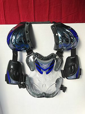 Fox Racing R3 Blue Chest Roost Guard Protector Motocross Off Road Youth Small MX