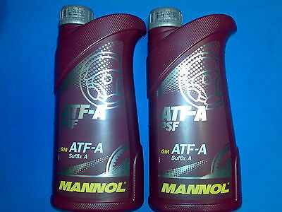 2L MANNOL ATF-A Suffix Power Steering Fluid PSF  DEXRON ATF Type B ATF Type D
