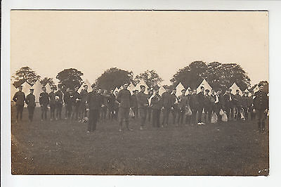 Hertfordshire Imperial Yeomanry Camp - Soldiers with Kitbags - RP PC (1611)