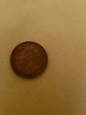 1823 King George 1111- Copper Farthing Coin