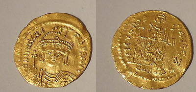 Maurice Tibere Solidus Or Gold - Maurice Tiberius - Constantinople