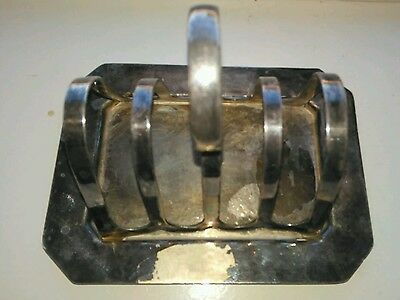 silver plate toast holder or letter holder - Made in England by Reliont