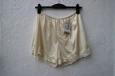 vintage french cami knickers sissy tap shorts cream lace BNWT lingerie large