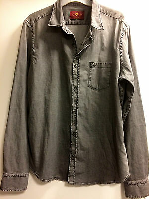 Seven for all Mankind long sleeve denim effect shirt size L