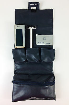 Vintage Pan Am Airlines First Class Travel Toiletries Cosmetic Bag Shave Kit