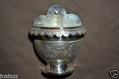 Antique Metal Wall Sconce Sterling Silver hand-chased Islamic Turkish Ottoman