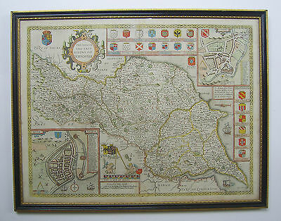 Yorkshire North & East Ridings: antique map by John Speed, 1676