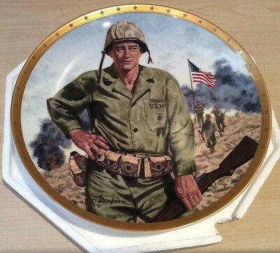 Royal Doulton Limited Edition John Wayne Symbol of America Fighting Forces Plate