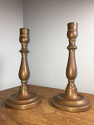 French Copper Pair of Candlesticks//Antique//Vintage