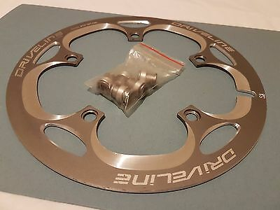 Driveline CNC Chainring Guard 52T, 130mm BCD, Grey