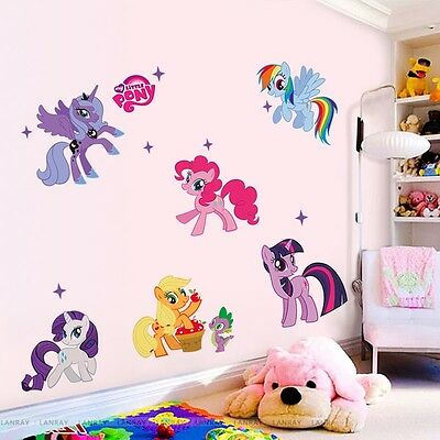 My Little Pony Mural Vinyl Wall Decals Sticker Room Decor for Kids Nursery PO