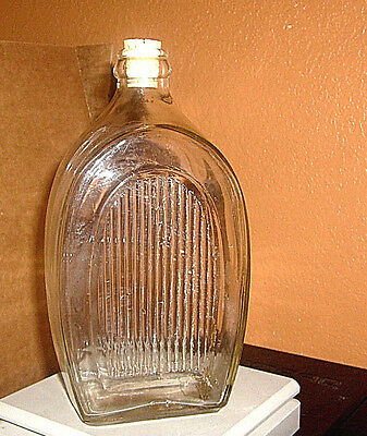 Vintage Pharmacy Lab Pois0N  Bottle Art Deco Architectural Arched Shaped