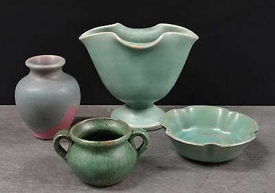 Set of 4 Vintage Handcrafted Studio Art Pottery Pieces