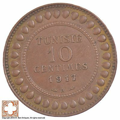 1917-A French Tunisia 10 Centimes *6434