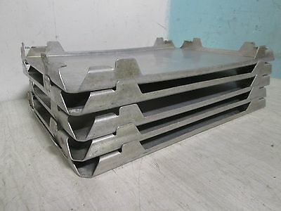 "Lot Of 5 ""stainless Incorporated"" Commercial H.d.stackable Frozen Food Thaw Tray"