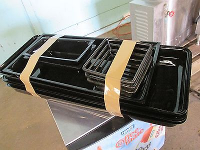 "Lot Of (10) ""delfin"" H.d. Commercial Assorted Deli Display Meat Trays And Stands"