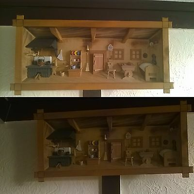 PICTURE DOLLS Wall Ornament Hanging House 3D Set Plaque Room DIORAMA Picture