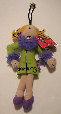 Bang On The Door Darling Soft Toy Collectable Beanie.1999.Golden Bear.Santoro.