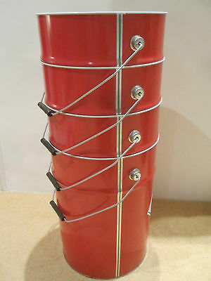 Storage with lids and handles x 4 large red storage bins that stack