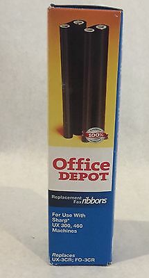 Replacement Fax Ribbons Sharp UX 3CR  FO 3CR  Machines UX300 460 Office Depot