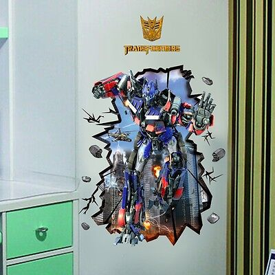 Transformers Optimus Prime Wall Decal Stickers Decor art kids Nursery Mural PO