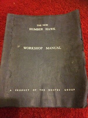 Humber Hawk Workshop Manual  1964