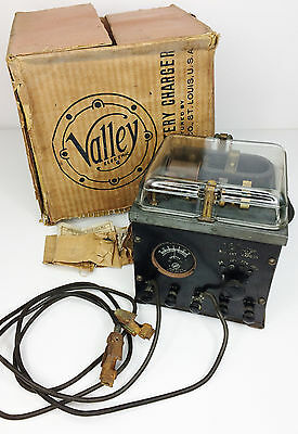 Vintage 1920's Valley Electric ABC Radio Battery Charger with Original Box a1