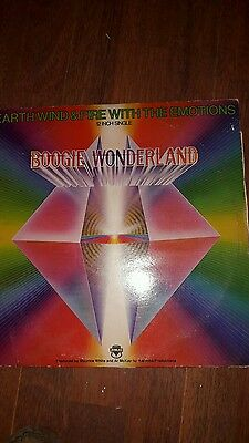 earth wind and fire with the emotions 12 inch single boogie wonderland vinyl