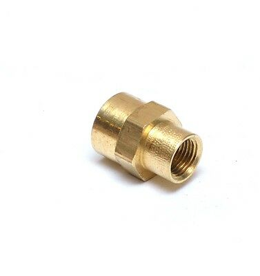 """Reducer 1/4"""" to 1/8"""" NPT Female Pipe Adapter Coupler Brass Fitting Water Oil Gas"""