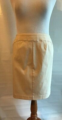 Express Solid Yellow Straight Pencil Skirt Knee Length Stretch Size 14