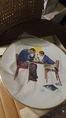 "1982 ""Four Seasons"" Ltd Edition Norman Rockwell Collector China Plates by Gorham"