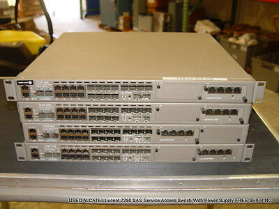 ALCATEL Lucent 7250 SAS Service Access Switch With Power Supply FREE SHIPPING
