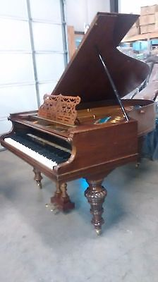 Fabulous looking and sounding  antique  Art  case grand  piano&  Steinway stool