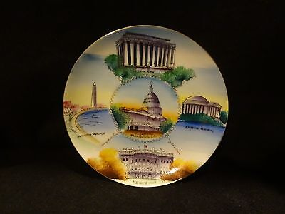 """8"""" Washington DC Hand Painted Plate - Made in Japan"""