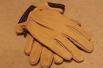 Timberland Tan Brown Leather Suede Gloves , genuine