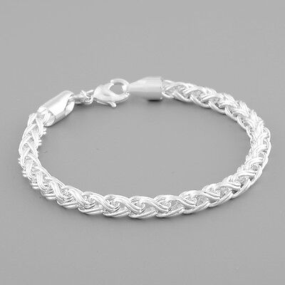 New Fashion Charm Women 925 Sterling Silver Twisted Bracelet Chain Cuff