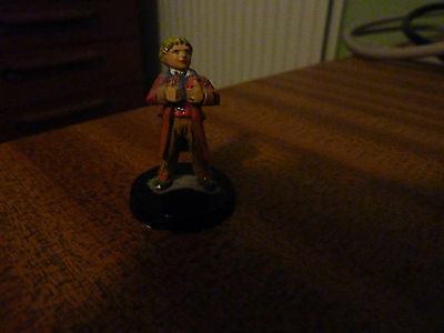 Dr Who. Pewter 6th Doctor Figure, small. ideal for RPGs  RARE. Painted.