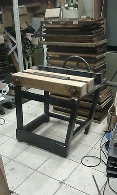 BOOKBINDING finishing press with rounding and backing plates. Fantastic item