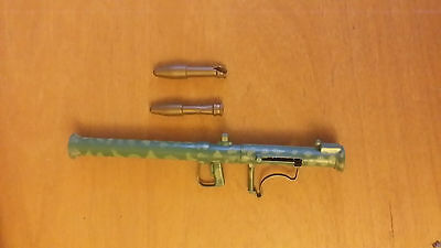 Vintage Action Man working bazooka toy weapon rocket launcher