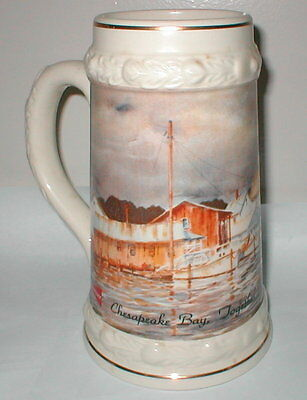 "Budweiser Anheuser Busch Chesapeake Bay ""Together we can turn the Tide"""" Stein"