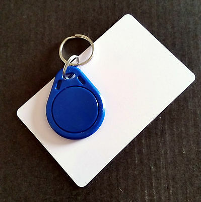 Sample/10/50Pcs NFC Contactless Smart Blue Keyring Tag S50 IC 13.56MHz RFID UK